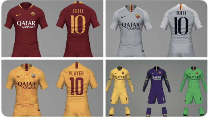 84b6add1d59c3a Roma's kits for the 2018/2019 season have been unveiled. The new shirts all  feature new sponsor Qatar Airways in addition to new socks for each of the  kits.